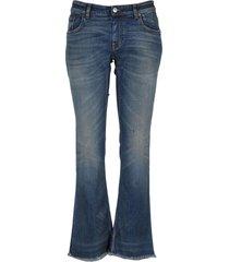 balenciaga flared cropped jeans