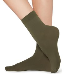 calzedonia - 50 denier soft touch socks, one size, green, women