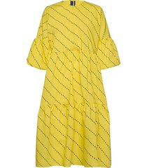 amber dress knälång klänning gul résumé