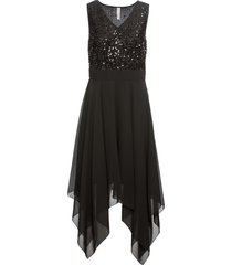 abito da sera midi con paillettes (nero) - bodyflirt boutique