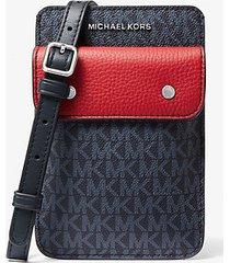 mk borsa a tracolla per smartphone bicolore con logo - admpblurcrd - michael kors