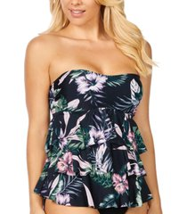 island escape tiered tankini, created for macy's women's swimsuit
