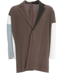 homme plissé issey miyake polyester cardigan