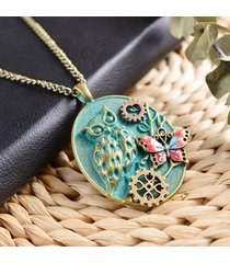 collana con pendente a farfalla gufo retrò collana con pendente a vapore vintage per donna