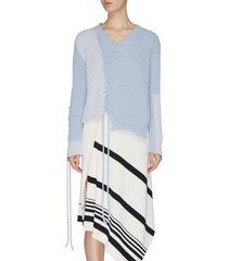 'scollo' cross stitch string sweater
