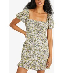 sanctuary fresh breeze ditsy-print ruffled-hem dress