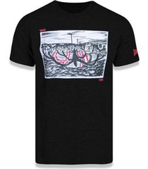 camiseta manga curta netflix stranger things preto new era - masculino