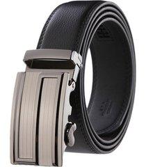 cinturon hombre lujo hebilla automatica ne310 - color negro