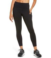 brooks method 7/8 pocket tights, size xx-large in black at nordstrom