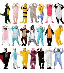 hot unisex pajamas kigurumi cosplay dress adult  animal hoodie onsie sleepwear
