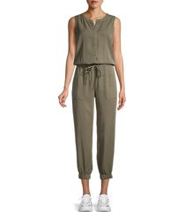 pure navy women's sleeveless jumpsuit - olive - size xl