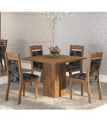 mesa de jantar 4 lugares cetim dover/cobre - mobilarte móveis