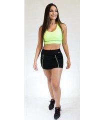 short saia fit training brasil power feminino