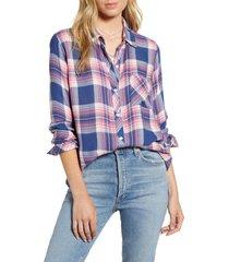 women's rails hunter plaid shirt, size x-large - pink