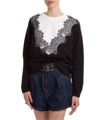 maglione maglia donna girocollo
