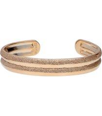 bracciale bangle in ottone bronzato e glitter bronzo per donna