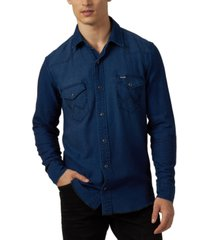 wrangler men's western style shirt