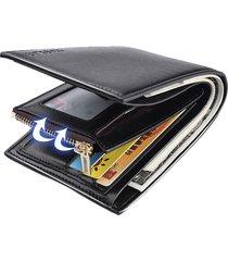 portafogliotri-fold in cuoio con 11 card-slots