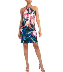 trina turk sizma printed halter dress