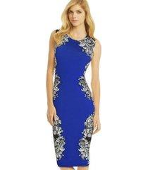 vestidos de volantes a media pierna elegante vestido empire club-azul