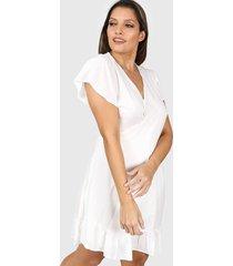 vestido blanco vindaloo cruzado