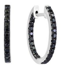 black diamond (3/4 ct. t.w.) earring in 14k white gold