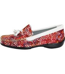 loafers naturläufer ljusröd