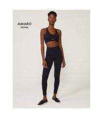 amaro feminino legging fitness biodegradável minimal, preto