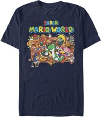 nintendo men's super mario world map short sleeve t-shirt