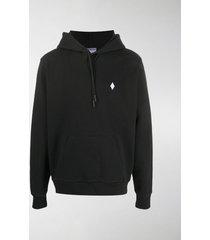 marcelo burlon county of milan logo-embroidered hoodie
