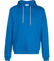 john elliott relaxed fit beach hoodie - blue