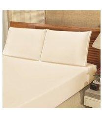 jogo de cama lençol solteiro bianca 02 peças - palha,