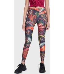 legging desigual full print wi  6009 multicolor - calce ajustado