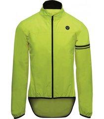 agu fietsjack essentials men wind fluo yellow-s