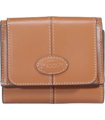 tods micro trifold logo wallet