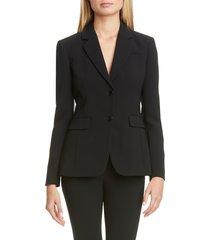 women's altuzarra two-button blazer, size 4 us / 38 fr - black