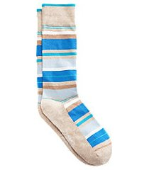 jos. a. bank stripe mid-calf socks, 1-pair clearance