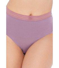 calcinha click chique biquãni cintura alta cavada roxo - roxo - feminino - dafiti