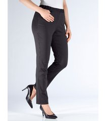 broek m. collection zwart/wit gestreept