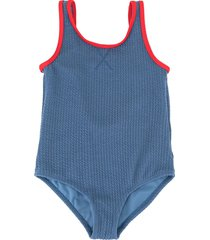 duskii girl zoe textured swimsuit - blue