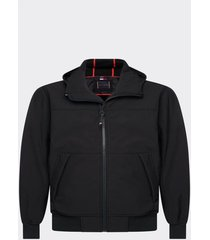 chaqueta softshell capucha negro tommy hilfiger