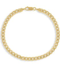 14k gold miami cuban link bracelet/5mm