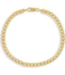14k gold miami cuban link bracelet/5mm