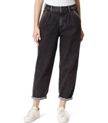 frayed cuffed baggy jeans