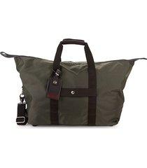 tumi zip small travel satchel - grey brown