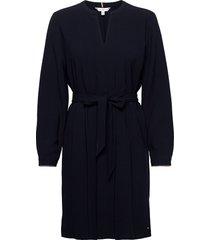 ariella knee length dress ls jurk knielengte blauw tommy hilfiger