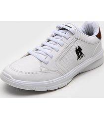 sapatãªnis polo wear recortes branco - branco - masculino - sintã©tico - dafiti