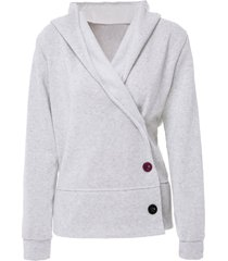 button up hooded casual hoodie