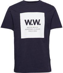 ww square t-shirt t-shirts short-sleeved blå wood wood