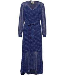 milou maxi dress maxi dress galajurk blauw just female